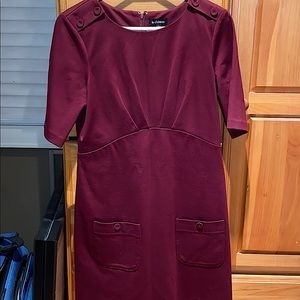 Le Chateau burgundy dress